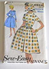 Vintage Advance Dress Pattern & Scarf —Bust 33— Uncut, Factory Folded