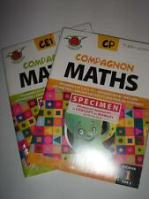 COMPAGNON MATHS in French CP & CE1 Lot de 6 FICHIERS New SEDRAP France