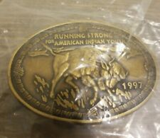 1997 RUNNING STRONG FOR AMERICAN INDIAN YOUTH  BUFFALO BELT BUCKLE