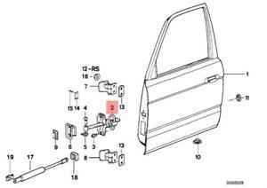 Genuine BMW E32 E34 Sedan Wagon Door Brake Front OEM 51218155698