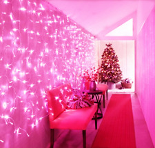 65.6FT 200 LEDs Fairy Lights Christmas String Lights Waterproof - 2 Pack of Pink