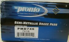 Pronto PMD746 Disc Brake Pad Set Semi-Metallic Front, Fits Vehicles Listed Chart