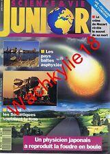 Science et vie junior n°27 du 06/1991 Foudres Pays baltes Mozart Fusées