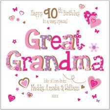 Personalised 90th birthday card Great Grandma Great Nana Any Age/Name/message