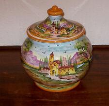Deruta pottery LANSCAPE PATTERN BISCOTTI JAR FREE SHIP