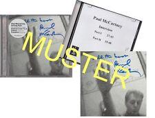 PAUL MCCARTNEY  DRIVING RAIN CD MIT AUTOGRAMM + PROMO INTERVIEW CD