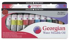 Daler Rowney Georgian Water Mixable Oil Colour Selection Set 10 x 37ml
