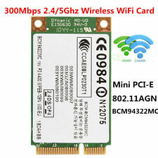 2.4G/5GHz Dual Band Mini PCI-E WIFI Wireless Network Card 300Mbps For DELL Acer