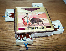 Inlay Matchbox with Vintage Matchsticks bullfight  image from Toledo Spain