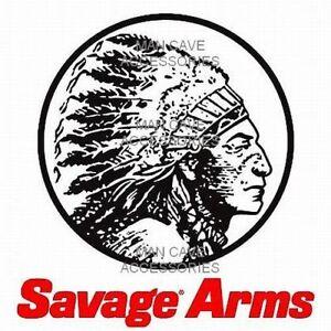 SAVAGE ARMS Chief Head Vinyl Decal Sticker Rifle Gun 4472