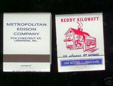 Reddy Kilowatt 2 unused Matchbooks matches match books