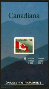 Canada 1191a  Booklet BK110a MNH Flag (hill on the right)