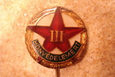 Hungary Hungarian Army Military Sports Competition Class 3 III Honved badge pin