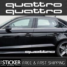 2 x Audi quattro #1 Sticker Decal Sline Q5 Q7 TT A4 A5 A6 R8 QUATTRO