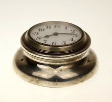 ASPREY LONDON 8 jours Argent Horloge Montre BORDUHR Messieurs Pocket Watch Montres RAR