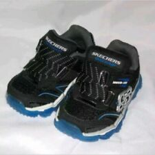 SKECHERS SKECH AIR TODDLER 5 BLACK & BLUE SNEAKERS