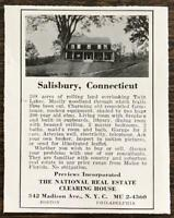 1936 National Real Estate Clearing House Print Ad Home for Sale in Salisbury CT