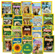 National Geographic Readers Level 1 Ants, Butterfly,Frog,Owls,Ponies+ 20bks NEW