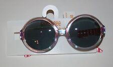 NUOVO GYMBOREE trasparente striscia Rosa Montatura rotonda Occhiali da sole 4 &