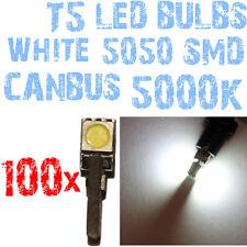 N° 100 Ampoules LED T5 CANBUS 5000K SMD 5050 Phares Angel Eyes DEPO FK 12v 1A2 1