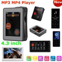 """4.3"""" Digital HD 1080P MP3 MP4 Music Media Player Video Mini Hifi FM Radio TF USB"""