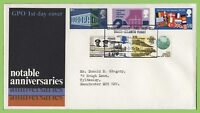?G.B. 1969 Anniversaries set on GPO First Day Cover, Manchester