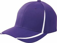 FLEXFIT Structured COLORBLOCK WICKING Hat FITTED XS S/M L/XL Sport Baseball Cap
