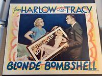 11X14 ORIGINAL LOBBY CARD,JEAN HARLOW IN BOMBSHELL!!RARE,1933! MINT! FREE SHIP