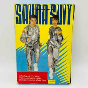 New Vintage Silver SAUNA SUIT Men & Women One Size Sweat Exercise Weight Loss