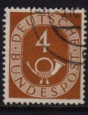 W Germany 1951 Posthorn 4pf Amarillo Marrón SG 1046 Fu