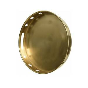 Decorative Tray Gold Round Metal Serving Display Tray Jewellery Display Tray