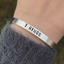 Ariana Grande 7 Rings Bracelet Silver Cuff Bracelet Handmade Jewellery