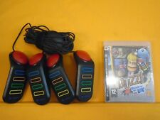 ps3 BUZZ Brain of the UK + Official BUZZERS Controllers Playstation PAL
