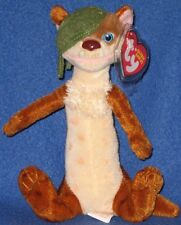 TY BUCK the ONE EYES WEASEL BEANIE BABY - MINT w/ TAG (ICE AGE 3 MOVIE) -SEE PIC