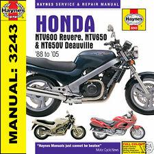 Haynes Honda ntv600 REVERE ntv650 DEAUVILLE MANUALE PLUS nt400 & nt650 3243 NUOVO