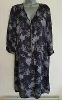 PART TWO COPENHAGEN 'Beverly DR' Women's Grey/Black Mix Tunic Dress. Size UK 12.