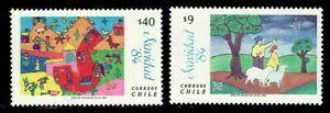 Stamps Navidad Chilli 1984 Cartoon Children's 2v