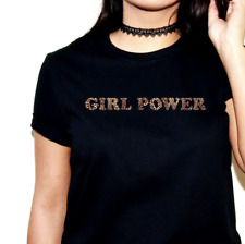GIRL POWER PRINTED SLOGAN T-SHIRT TSHIRT TOP LEOPARD SPICE GIRLS WORLD TOUR 2019