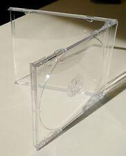JEWEL CASES - Standard-CD-Hüllen (Leerhüllen, 10 mm) mit klarem Tray. 95 Stück