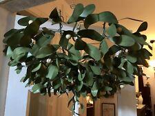 Vtg Large French Mistletoe Tole Chandelier