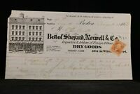 Massachusetts: Boston 1866 Shephard Norwell Store Illustrated Invoice + Revenue