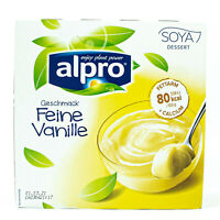 Alpro - Soja Dessert feine Vanille 500 g (4x125g) - Soya Sojadessert Vanilla