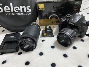 Nikon D3400 24,2MP DSLR Camera - Black (Kit with 18-55mm f/3.5-5.6G VR Lens)
