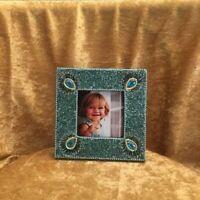 Small Green Glitter Photo Frame