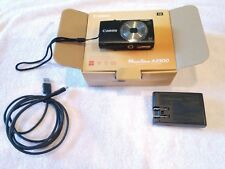 Canon PowerShot A2300 HD Digital Camera Black W/ Charging Cord and Original Box