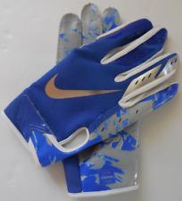 Nike Youth Vapor Jet 5.0 Football Gloves Game Royal/White/Chrome Silver Size L