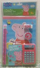 Peppa Pig 7pc Calculator Stationery Set Birthday Gift Elementary School Supply