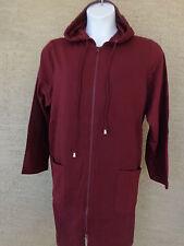 8fc6f11abfd Roaman s L 18-20W Light Weight Jersey Fleece Lined Hooded Jacket Burgundy