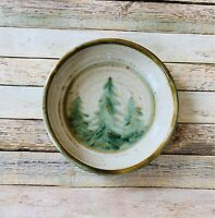 Pottery Bowl Handmade Forrest Cabin Dinnerware 9 Inches