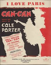 Cole Porter I Love Paris  Can Can  UK Sheet Music